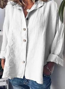 Bluzka Cikelly w stylu casual z długim rękawem z dekoltem w kształcie litery v