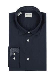 Granatowa koszula Selected Homme z bawełny