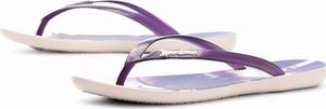 Fioletowe klapki Ipanema z płaską podeszwą w stylu casual