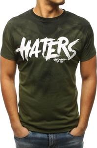 T-shirt Dstreet z bawełny z krótkim rękawem w młodzieżowym stylu