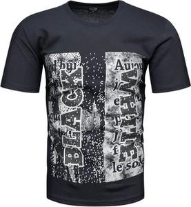 T-shirt Recea w młodzieżowym stylu z nadrukiem z krótkim rękawem