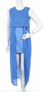 Niebieska sukienka Jovonna bez rękawów maxi