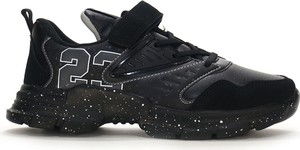 Czarne buty sportowe dziecięce American Club sznurowane