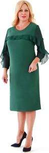 Zielona sukienka Roxana - sukienki z szyfonu