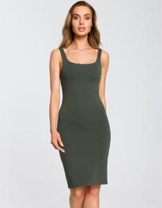 Zielona sukienka MOE mini na ramiączkach
