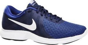 Granatowe buty sportowe Nike revolution sznurowane