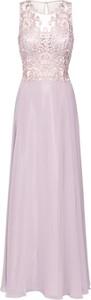 Różowa sukienka Vera Mont prosta bez rękawów z okrągłym dekoltem