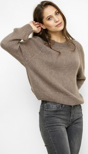 Brązowy sweter Freeshion w stylu casual