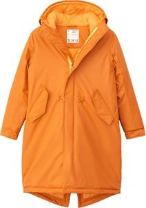 Pomarańczowa kurtka Shu długa