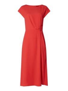 Sukienka Hugo Boss maxi z okrągłym dekoltem z krótkim rękawem