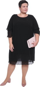 Sukienka modneduzerozmiary.pl z szyfonu z okrągłym dekoltem