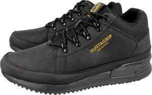 Czarne buty sportowe Bustagrip sznurowane