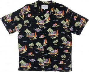 Czarna koszula Carhartt WIP z kołnierzykiem button down z nadrukiem w młodzieżowym stylu