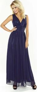 Niebieska sukienka Coco Style maxi z szyfonu