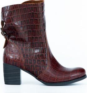 Czerwone botki Zapato