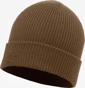 24bc6d4f069d1c Brązowa czapka Buff w stylu casual z dzianiny