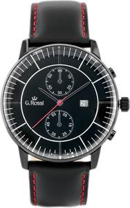 ZEGAREK MĘSKI GINO ROSSI - 6462A (zg206d) + BOX - Czarny