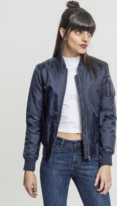 Granatowa kurtka Urban Classics krótka w stylu casual