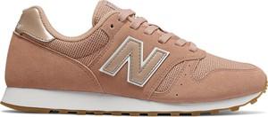 Buty sportowe New Balance w sportowym stylu z płaską podeszwą sznurowane