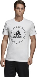 T-shirt Adidas Performance z krótkim rękawem z dzianiny w młodzieżowym stylu