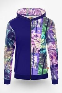 Fioletowa bluza Power Canvas z nadrukiem w młodzieżowym stylu