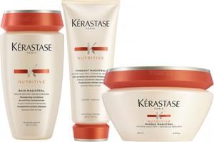KERASTASE NUTRITIVE MAGISTRAL Zestaw do przesuszonych włosów szampon 250ml, odżywka 200ml i maska 200ml