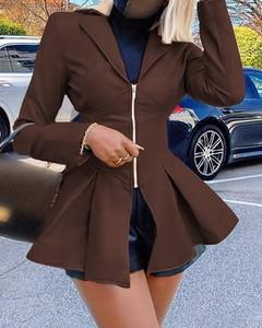 Płaszcz Kendallme w stylu casual ze skóry