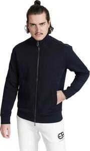 Czarny sweter Emporio Armani z plaru