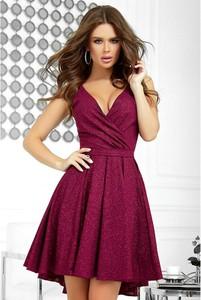 Czerwona sukienka Bicotone mini bez rękawów