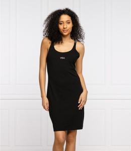 Czarna sukienka Fila z okrągłym dekoltem na ramiączkach w sportowym stylu