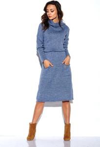 Sukienka Lemoniade z wełny w stylu casual midi