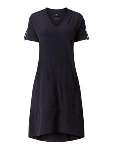 Granatowa sukienka Marc Cain midi
