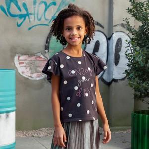 Niebieska koszulka dziecięca Cool Club z bawełny