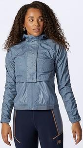 Niebieska kurtka New Balance z tkaniny w sportowym stylu krótka