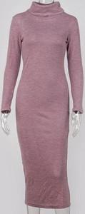 Różowa sukienka Cikelly midi w stylu casual