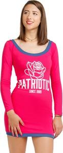 Różowa sukienka Patriotic