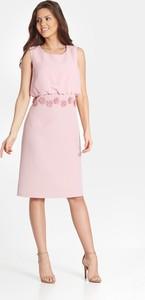 Różowa sukienka Marcelini z szyfonu