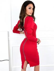 Sukienka Infinityfashion.pl z długim rękawem z golfem w stylu casual