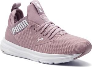 Różowe buty sportowe Puma z płaską podeszwą w sportowym stylu sznurowane
