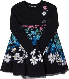 Sukienka dziewczęca Desigual w kwiatki