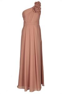 Sukienka Fokus rozkloszowana bez rękawów z asymetrycznym dekoltem