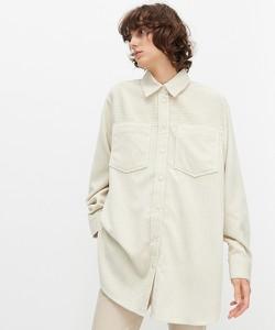 Koszula Reserved ze sztruksu z długim rękawem