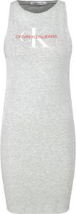 Sukienka Calvin Klein z okrągłym dekoltem bez rękawów