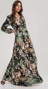 Czarna sukienka Renee z dekoltem w kształcie litery v w stylu boho maxi