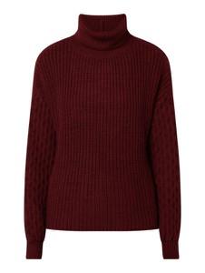 Czerwony sweter NA-KD w stylu casual z dzianiny