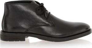 Czarne buty zimowe Ochnik ze skóry