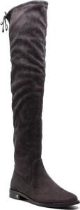 Kozaki Nessi za kolano w stylu casual z płaską podeszwą