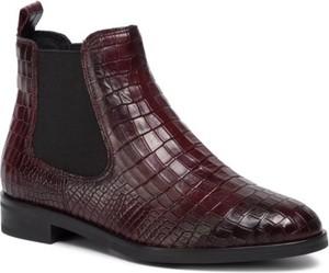 Czerwone botki Gino Rossi w stylu casual