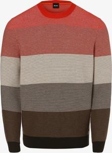 Sweter Hugo Boss w stylu casual z okrągłym dekoltem z bawełny