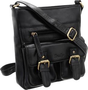 Czarna torebka Rovicky na ramię matowa ze skóry